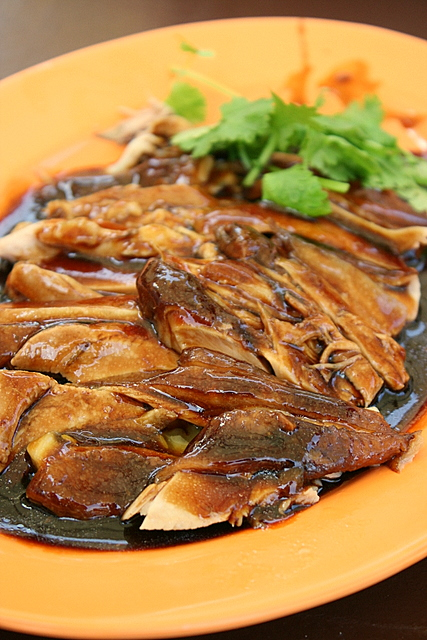 Braised duck with thick, lush gravy