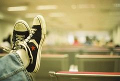 (golfpunkgirl) Tags: canonav1 slr film island airport shoes waiting honeymoon ben philippines converse feets boracay chucks av1 explored jessops200