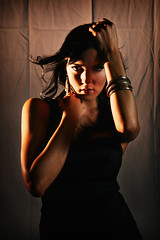 Tomb raider - Kimberley (Click.Chick) Tags: woman girl beauty alexandria fashion hair studio model sydney australia grace curly nsw brunette lbd bangles littleblackdress blackdress tham gracetham strobist crosslighting gracet clickchick sydsa75 kimberleyerin sydsa75kimberley alexandriatownhall sydsa75honmun