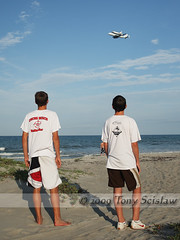 Atlantis Returns (Tony Scislaw Photographer*) Tags: ocean beach boys florida space aircraft teenagers nasa atlantis shuttle boeing cocoa 747 orbiter
