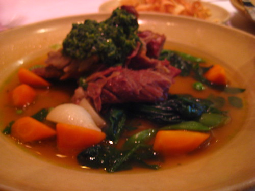 lamb dish at chez panisse cafe