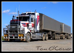 Bowley Transport (Tom O'Connor.) Tags: road port train river pix fuji tipper south wheels transport fine grain australia double silo adelaide trucks trucking kenworth axle bowley t904 s5700