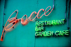 Bocce (Thomas Hawk) Tags: sanfrancisco california usa restaurant neon unitedstates unitedstatesofamerica northbeach bocce northbeachdistrict photowalking7