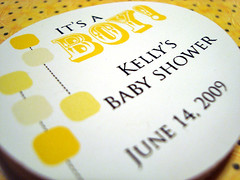 kelly's baby shower labels