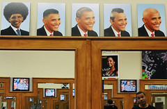 Obama Barber Shop (xorsyst) Tags: haircut afro bald barbershop barber mohawk barak flattop obama