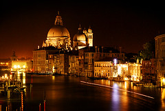 Venice at night (Wee-Peng: glad to be back! catching up now) Tags: street venice sea italy building water river boats lights canal italian dome venezia traghetto stmarco