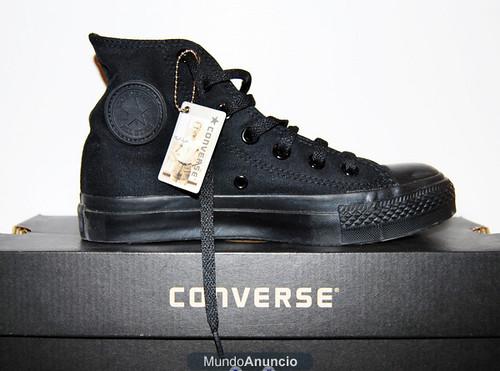 zapatillas converse negras altas