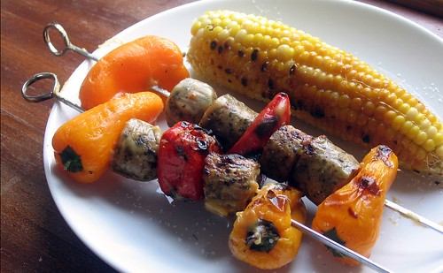 Honey Mustard Chicken Sausage Kebabs
