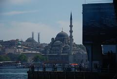 The Grand Mosque (Let Ideas Compete) Tags: life city travel bridge turkey cityscape minaret great grand istanbul mosque historic galata viewfromabridge takenonabridge galeta touristcity muslimcountry istanbbul takenfromabridge viewonabridge secularcountry