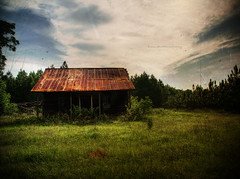 The Shadow Knows (evanleavitt) Tags: county roof summer house green texture abandoned home rural ga georgia tin washington rust warm day shadows darkness decay deep rusty olympus shades what weathered homestead backlit hdr lurks the in horribly e510 photomatix of