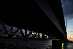 Under the bridge (SeeSkinner) Tags: sunset water architecture photoshop river pentax fb princeedwardisland hdr charlottetown hillsborough k100d