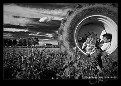 Country Life *Explored* (Sean Molin Photography) Tags: life sky blackandwhite bw playing tractor boys field kids clouds children outdoor farm country indiana tire firestone seymour playtime johndeere nikond700 seanmolin wwwseanmolincom