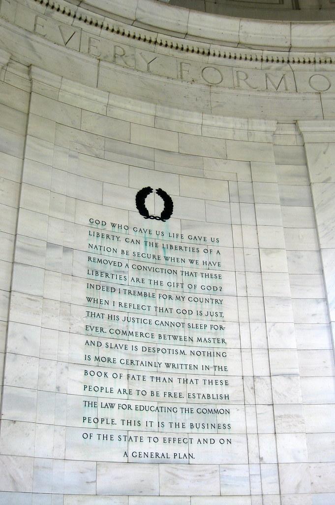 Washington DC - West Potomac Park: Thomas Jefferson Memorial - Inscriptions