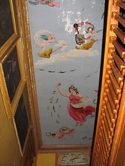 Shard Villa (1872-1874) - interior: ceiling fresco (origamidon) Tags: usa architecture vermont interior victorian historic cs sv vt nationalregisterofhistoricplaces cutstone ceilingfresco nrhp shardvilla addisoncounty clintonsmith columbussmith westsalisbury origamidon donshall westsalisburyvermontusa vermontstateregisterofhistoricplaces vsrhp 66000797 italianmuralist sylviopezzol