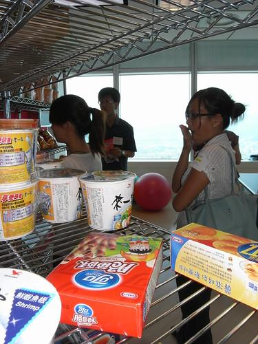 Google Taiwan的零食櫃