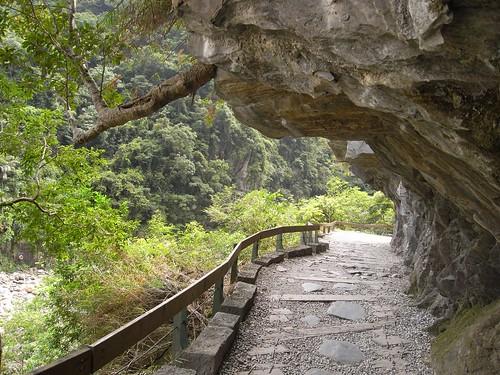 你拍攝的 8鑿空的岩石步道。