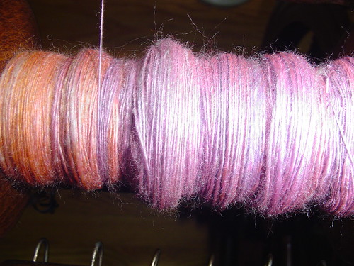 Tour de Fleece 2009 spinning seawool day 3 close up