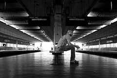 I Still Haven't Found What I'm Looking (Donato Buccella / sibemolle) Tags: street blackandwhite bw italy milan underground u2 candid milano streetphotography metropolitana cascinagobba canon400d sibemolle adessoabschiedmisgridaperiltitolo fotografiastradale