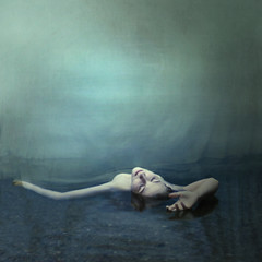 canvas (brookeshaden) Tags: blue selfportrait water creek painting death pond hand canvas monet serenity reach elegance brookeshaden texturebylesbrumes