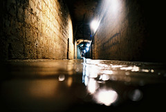 cold wet tunnel (lomokev) Tags: light paris wet water underground lomo lca xpro lomography crossprocessed xprocess focus dof tunnel lomolca depthoffield agfa catacombs jessops100asaslidefilm agfaprecisa lomograph agfaprecisa100 pariscatacombs precisa uploadtoflickr jessopsslidefilm roll:name=090708lomolca file:name=090708lomolca04