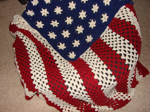 Rippled American Flag Crochet Pattern Pakbit For