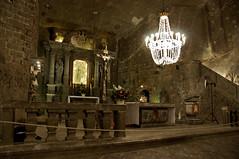Wieliczka Salt Mine, Wieliczka, Poland (teachandlearn) Tags: europe mine salt poland chapel altar chandelier wieliczka summer2009