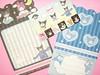 Kawaii Sanrio Kuromi My Melody Folding Mini Mini Letter Set Japan