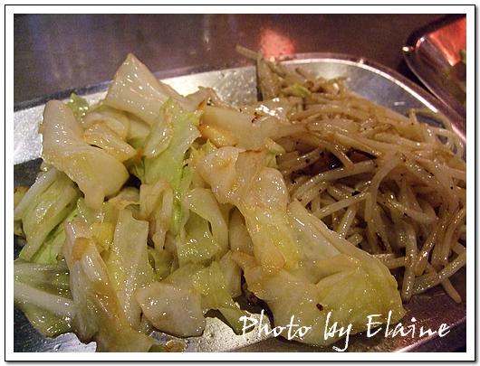 爽脆的高麗菜和豆芽菜