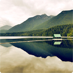 Gorgeous Green Thursday (~ Maria ~) Tags: canada mountains nature vancouver reflections landscape view britishcolumbia capilano capilanolake d90 imagepoetry nikond90 gorgeousgreenthursday