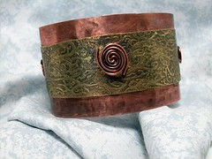 Mixed Metal Cuff - handmade brass and copper bracelet