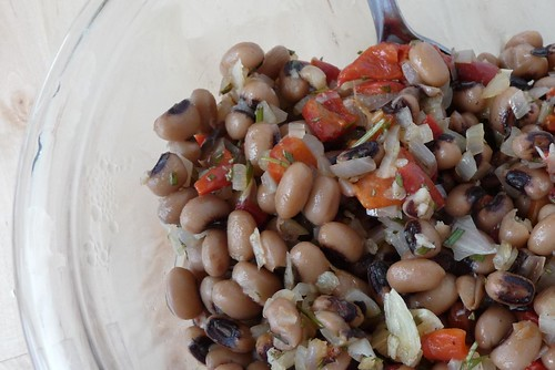 Rosemary and Red Pepper Bean Salad