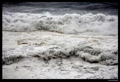 Typhoon Surf (alton.tw) Tags: ocean sea summer seascape storm beach nature wet water rain weather island coast asia surf waves wind hurricane shoreline taiwan shore foam elements tropical formosa  landfall seashore alton 2009 cyc