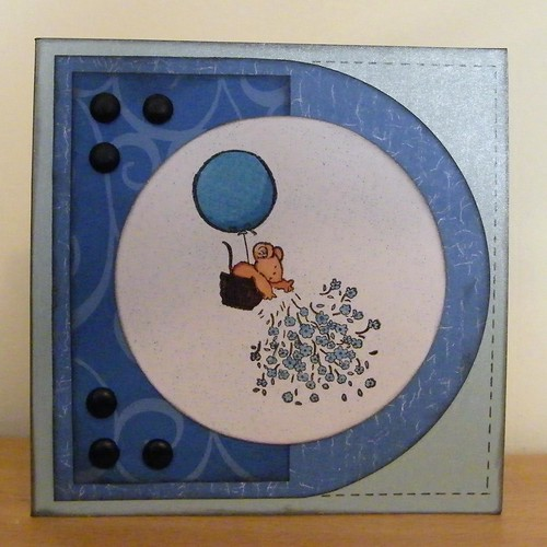 Blue, One Color Card, Penny Black 9
