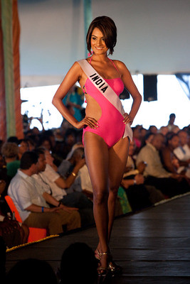 Ekta Chowdhry walks the runway in swimwear