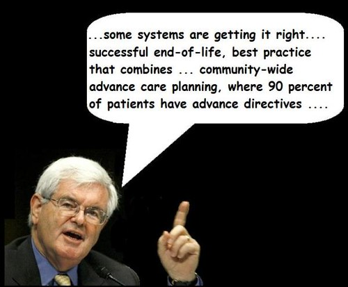 newt gingrich. Newt Gingrich, Advance