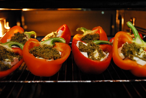 Peppers with feta & pesto