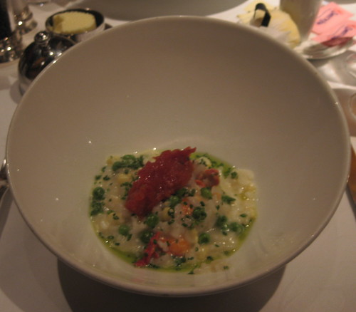 Gary Danko - Risotto with Lobster, Rock Shrimp, Corn, Peas and Roasted Tomatoes