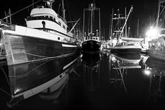 Fisherman's wharf at night (Kai Fuglem) Tags: ocean canada reflection water night boats fishing bc victoria fishermanswharf