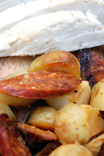 Week Two: Super Tasty Spanish Roast Chicken meat 'n' taters closeup