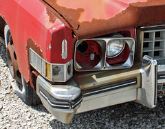 1973 Cadillac Eldorado Convertible (3 of 10) (myoldpostcards) Tags: auto old cars car project nose illinois rust classiccar vintagecar automobile gm decay antiquecar neglected rusty convertible cadillac eldorado il chrome rusted topdown weathered restoration autos grille oldcar damaged 1973 corrosion deteriorated decayed staunton caddy ragtop corroded frontend generalmotors luxurycar 2door motorvehicle collectiblecar worldcars countryclassiccars myoldpostcards vonliski