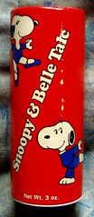 1970s Snoopy & Belle Talc (mankatt) Tags: brown vintage advertising peanuts charles charlie snoopy belle packaging 1970s toiletries talc shultz