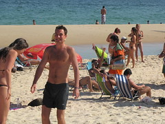 Ipanema Beach scene (benyeuda) Tags: ocean sea brazil beach southamerica water rio riodejaneiro sand atlantic atlanticocean beautifulbeach ipanema beachscene tropicalbeach ipanemabeach riobeach goldensand dejaneiro