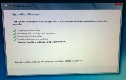 After 19 hours (Yes, 19 Hours!), Vista to Windows 7 upgrade still halt at 62%.. Can restart the pc?