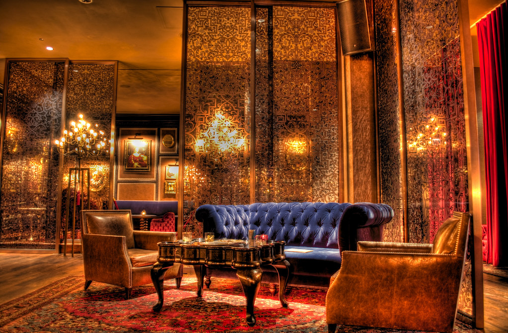 The Crimson Lounge in The Sax Hotel.