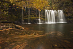 Sgwd Ddwli (antonyspencer) Tags: uk autumn fall wales river landscape spiral waterfall colours spencer brecon beacons antony cascade the4elements alemdagqualityonlyclub