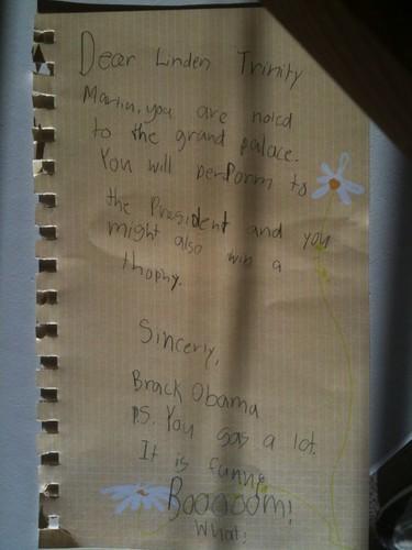 Oakley's note