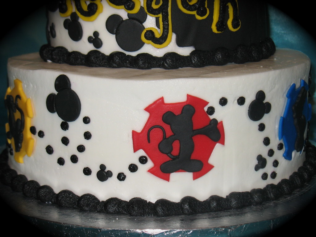 Mickey Silhouette Two Parts Sugar Tags Birthday Cakes Goofy Cake Mouse Cupcakes Disney