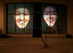 You Sound Funny When You Smile Heads Smiling (stefani byrd) Tags: glow contemporaryart publicart hmong interactiveart nuitblanche atlantaart atlantacelebratesphotography immigrantexperience leflash weseastin videoinstallationart yousoundfunnywhenyousmile stefanibyrd contemporaryartatlanta faithher jeffher