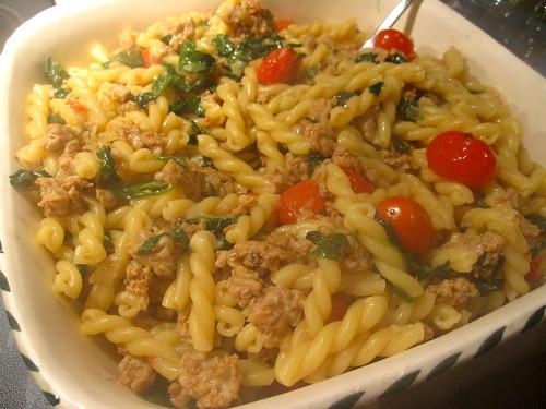 the divine gamelli & sausage pasta