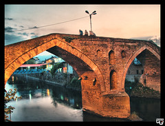 (N.i.M.A) Tags: bridge reflection river evening iran historic  hdr gilan    guilan langrood    abigfave   anawesomeshot  theunforgettablepictures langerud langeroud